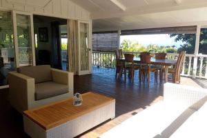 Uma área de estar em Villa Vaimoana