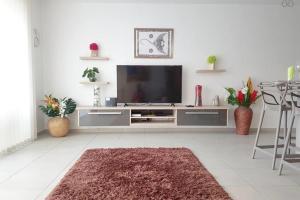 Uma TV ou centro de entretenimento em City'appart
