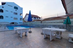 The swimming pool at or near Thipurai Beach Hotel