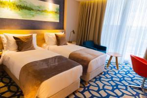 Cama ou camas em um quarto em Lankaran Springs Wellness Resort