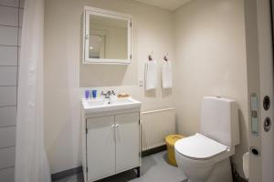 A bathroom at Knudhule Badehotel