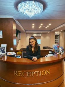 The lobby or reception area at Hotel Vlaho