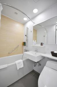 A bathroom at Mito Keisei Hotel