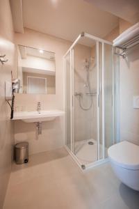 A bathroom at Hotel Pivovar