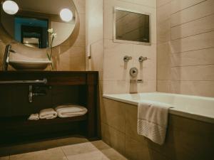 A bathroom at The Royal Yacht