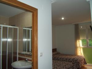 Cama o camas de una habitación en Hotel Severino