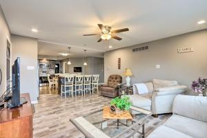 A seating area at Pet-Friendly Lake Ozark Escape with Deck and Views