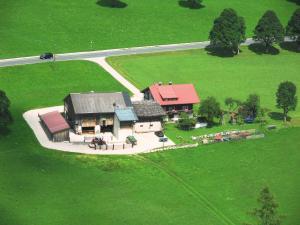 Letecký snímek ubytování Sattlehnerhof