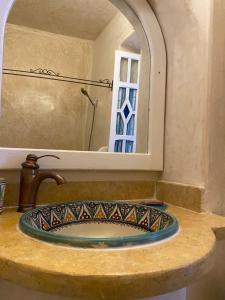 A bathroom at Casa Perleta