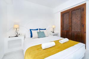 Cama o camas de una habitación en Espanhouse Aldea