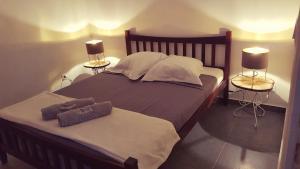 Un ou plusieurs lits dans un hébergement de l'établissement La Kaz Kian