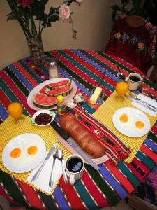 Breakfast options available to guests at Hotel Chalet