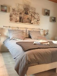 Un ou plusieurs lits dans un hébergement de l'établissement la ferme des ruelles