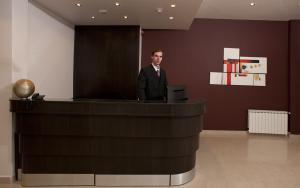 El lobby o recepción de Hotel Polans