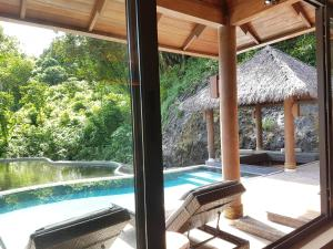 The swimming pool at or near Palau Pacific Resort