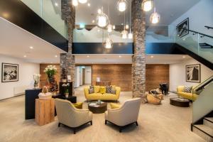The lobby or reception area at Walliserhof Grand-Hotel & Spa