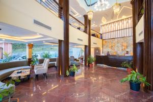 The lobby or reception area at Aagantuk Resort
