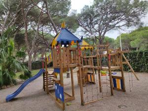 Children's play area at Gavamar Castelldefels Beachfront Apartment- Direct access to the beach