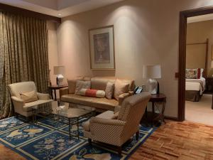 A seating area at The Manila Hotel
