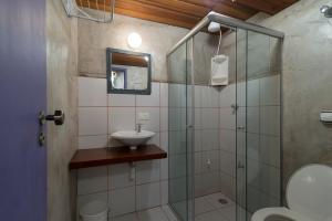 Um banheiro em Mandala Maresias