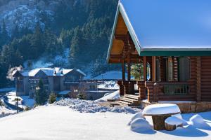 Elatos Resort & Health Club during the winter