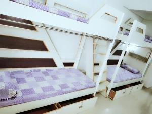 A bunk bed or bunk beds in a room at Aaramgruh Hotel Dormitory