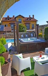 The swimming pool at or near Posada la Leyenda
