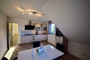 Küche/Küchenzeile in der Unterkunft Ferienwohnung INGRID