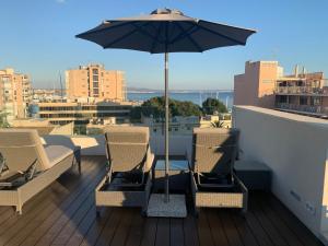En balkong eller terrass på Terreno Studios