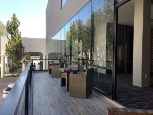 Un balcón o terraza de Hotel Aguascalientes