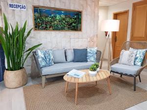 Een zitgedeelte bij Apartamentos Guadiana