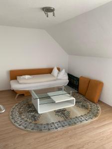 Ein Sitzbereich in der Unterkunft Seerestaurant & Suiten Hayat