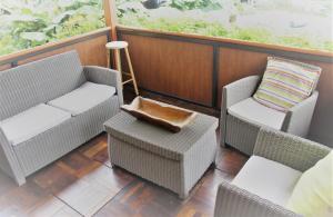 Uma varanda ou terraço em TAHITI - Taapuna Cottage