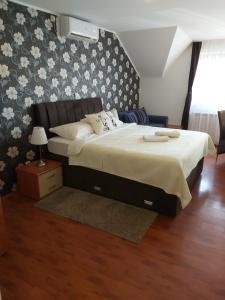 Een bed of bedden in een kamer bij Pansion Villa Cancar