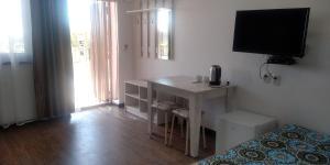 Телевизор и/или развлекательный центр в Hotel Alazis Alakol