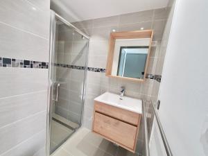 Salle de bains dans l'établissement Les Chamois