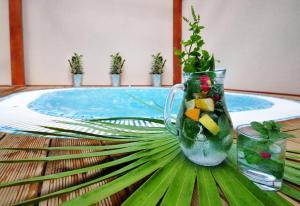 Bazén v ubytování Wellness Hotel Bozeňov nebo v jeho okolí