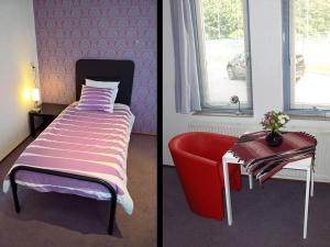 Een bed of bedden in een kamer bij B&B Zevenkamp