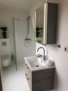 Ein Badezimmer in der Unterkunft Wadanders