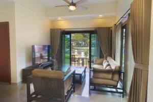 A seating area at Banyu Biru Villa
