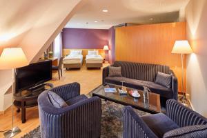 Гостиная зона в Hotel Banana City Winterthur