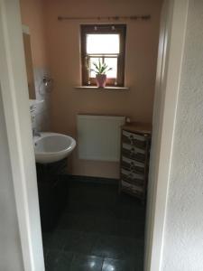 Ein Badezimmer in der Unterkunft Pension am Silberberg