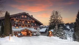 Les Chalets du Mont d'Arbois Megeve, a Four Seasons Hotel during the winter