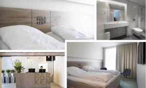 A bed or beds in a room at Thon Hotel Parken