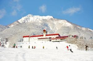 Akakura Kanko Hotel during the winter