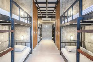 A bunk bed or bunk beds in a room at OYO 585 Freedom Hostel @ Phi Phi