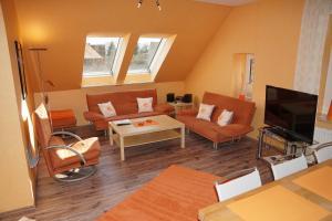 Ein Sitzbereich in der Unterkunft Villa Wilhelmina