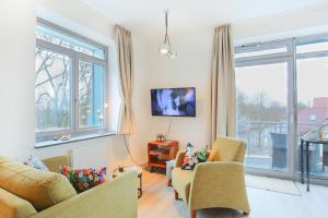 Гостиная зона в Apartment Villa Schwanenteich