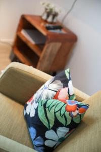 Кровать или кровати в номере Apartment Villa Schwanenteich