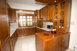 A kitchen or kitchenette at Traditional Macedonian Mansion in Peraia